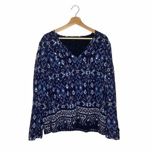 Lafayette 148 New York Boho Chic Sequin Blouse